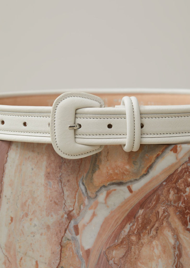 Closed Belt in Ivory