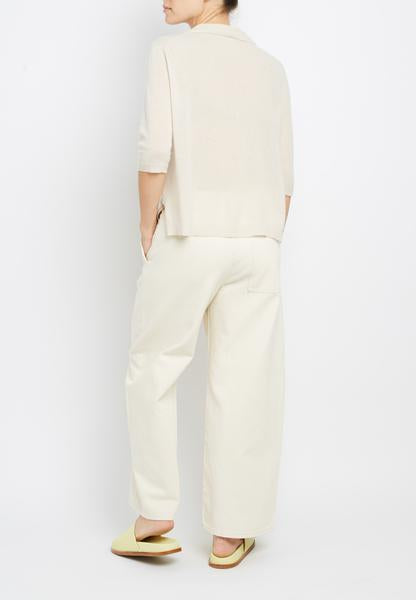 Inhabit 3/4 Sleeve Henley in Chiffon