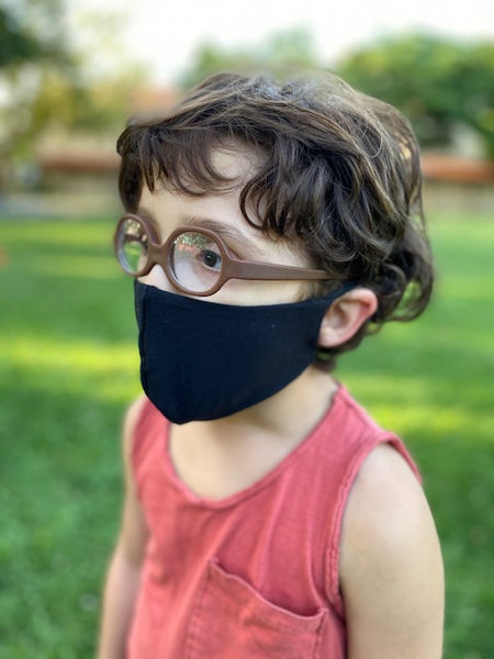 "Leylie ""Super Soft"" KIDS' Masks in Black, 3 Pack"
