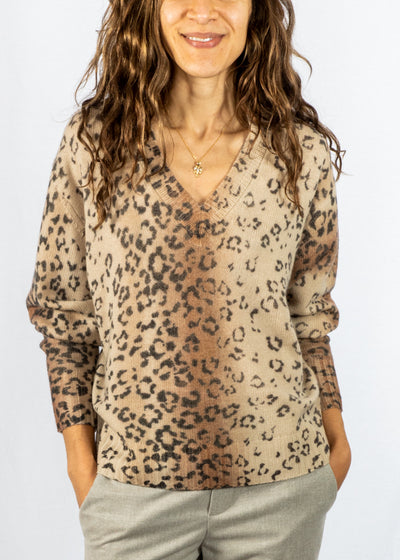 Brochu Walker Millie Printed V Sweater