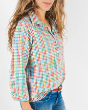 Leylie Jess Shirt in Rainbow Plaid