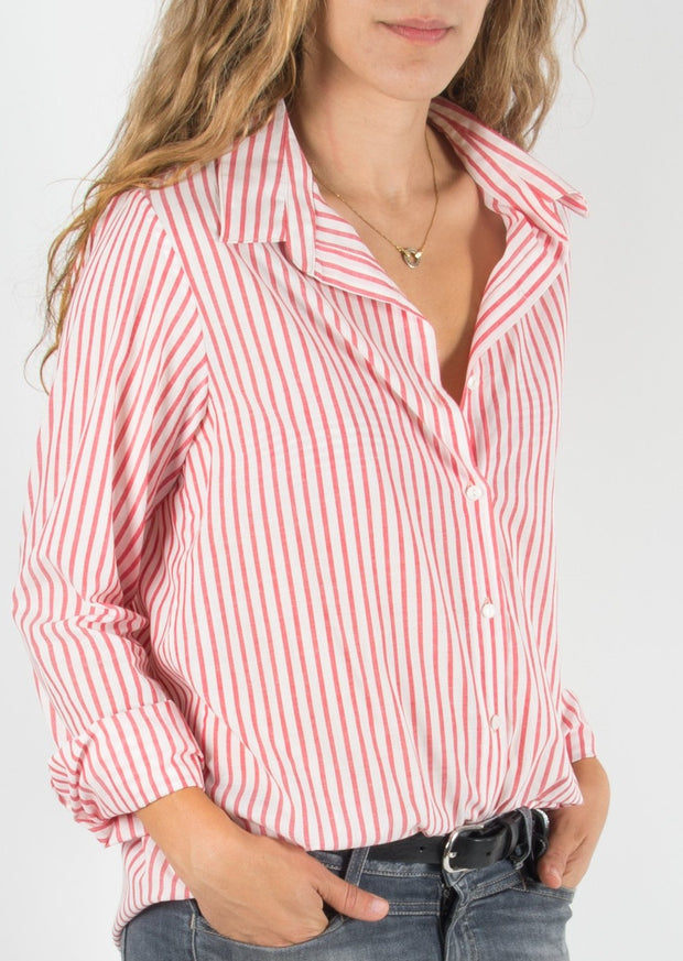 Leylie Jess Shirt in Red Stripe