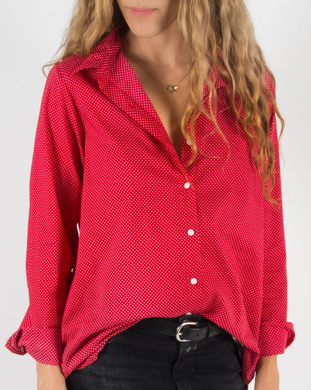 Leylie Jess Shirt in Mini Red Dot