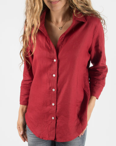 Leylie Rebecca Shirt in Cranberry