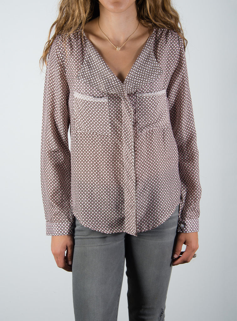 Leylie Yassi Blouse in Pink Dot