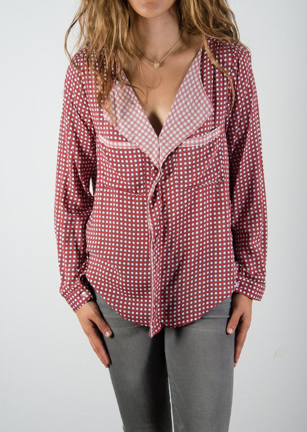 Leylie Yassi Blouse in Red Dot