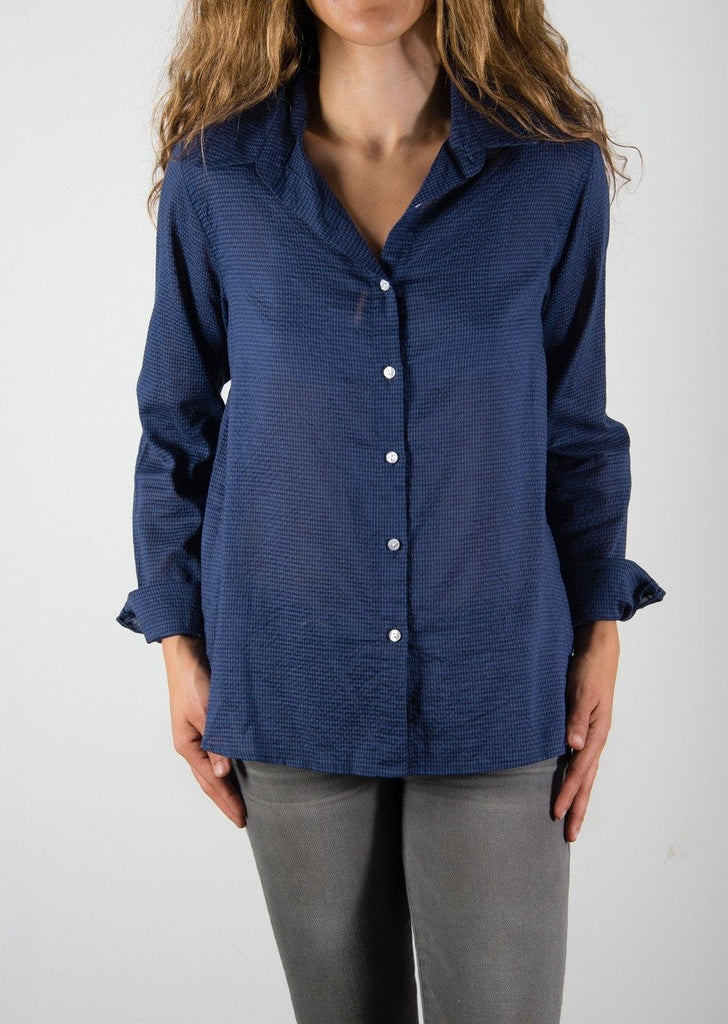 Leylie Jess Shirt in Navy Check