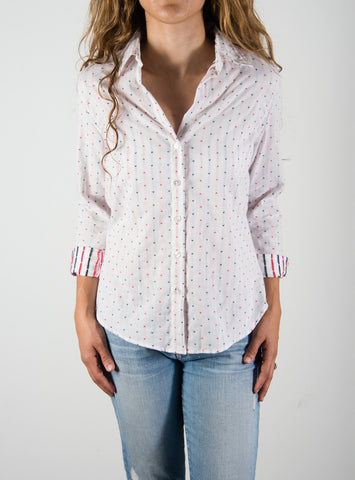 Leylie Chris Shirt in Heart Print