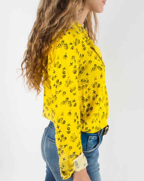 Leylie Guilda Shirt in Yellow Floral