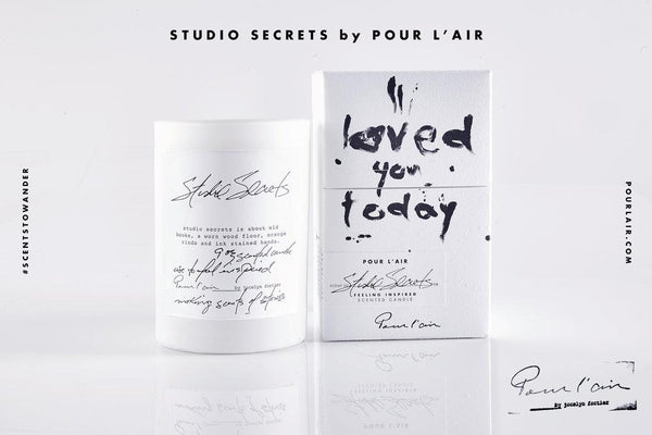 Pour l'air Candle in Studio Secrets