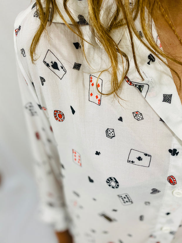 Leylie Guilda Shirt in Poker Print