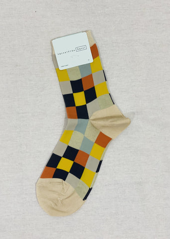 Hansel From Basel Checkered Crew Socks