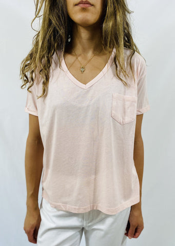 Closed V Tee in Pink