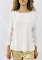 AqC Grace 3/4 Sleeve T in Cloud