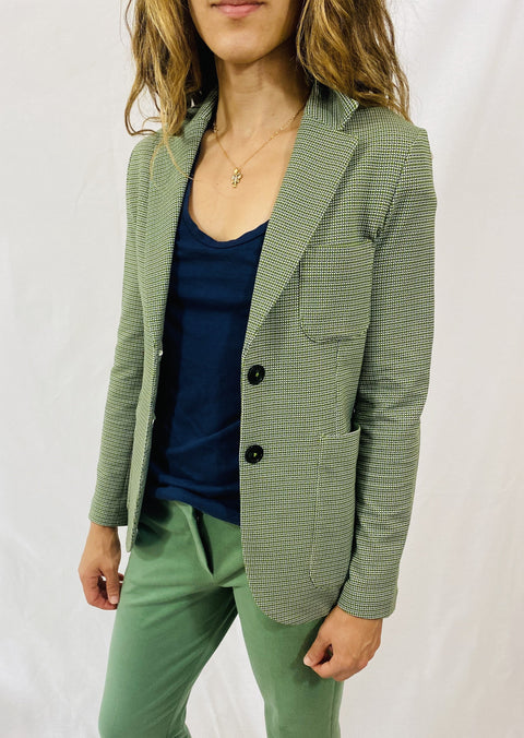 "Circolo Slim Long Jacket in ""Soprano"" Aloe"