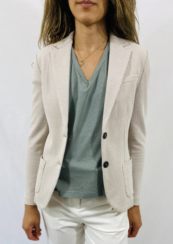 Circolo Honeycomb Blazer in Natural