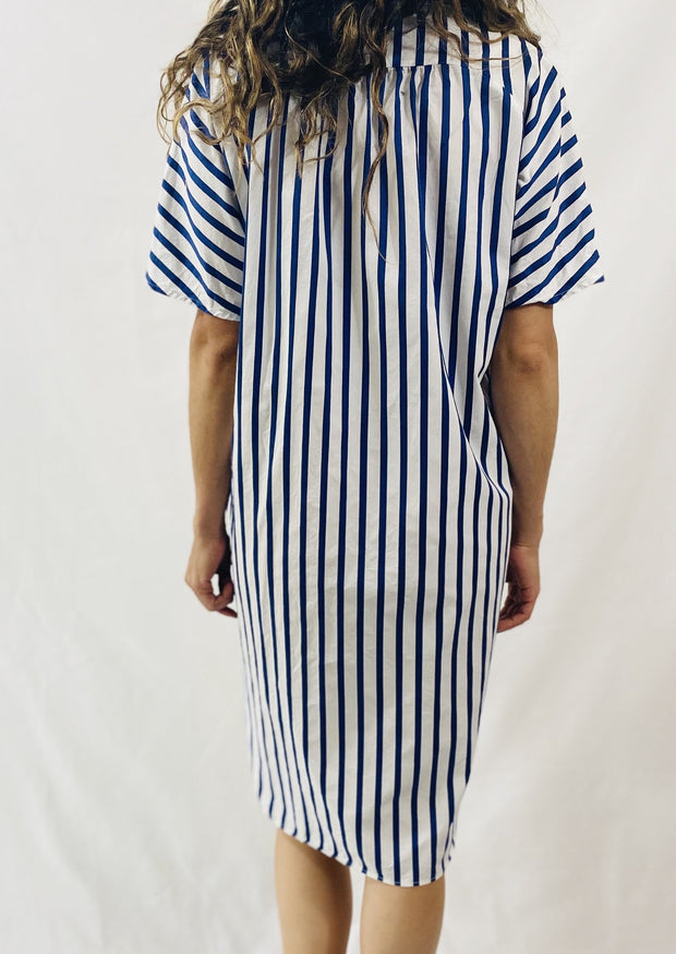 Closed Clover Dress in Indigo Stripe