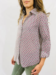 Leylie Chris Shirt in Pink/Black Floral