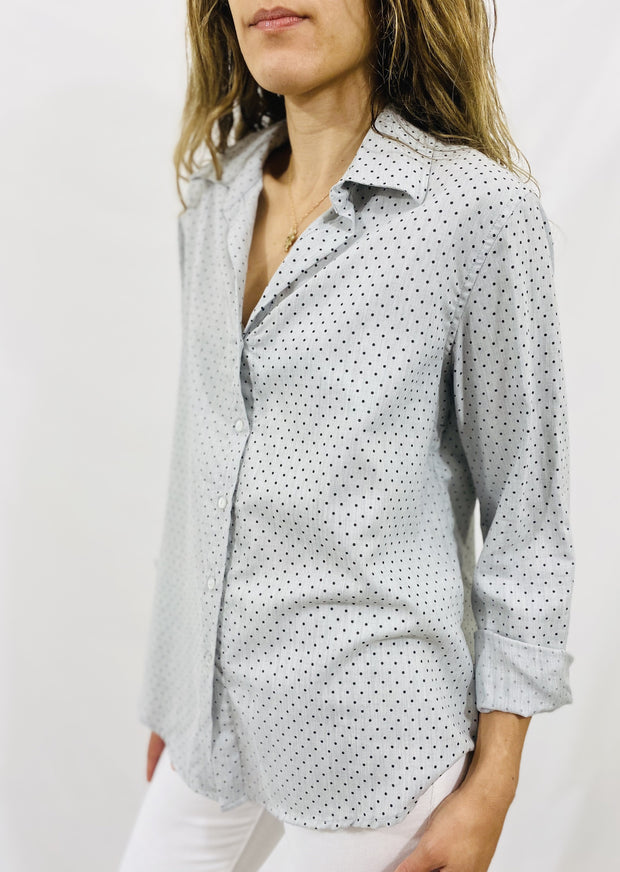Leylie Chris Shirt in Grey Dot