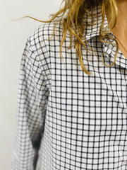 Leylie Chris Shirt in Black/White Plaid