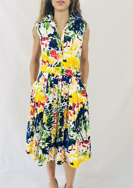 Samantha Sung Audrey Dress #2 in Matisse Landscape