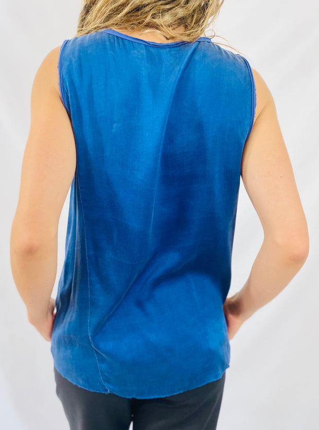 AqC Annie Muscle Tee in Blue