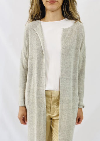 Evam Eva Cotton Linen Robe in Biege