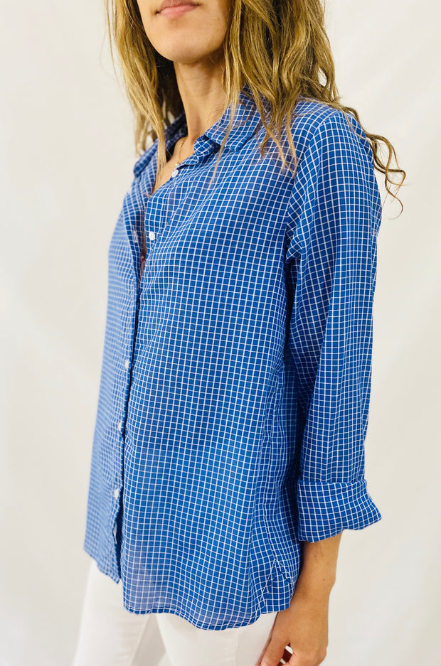 Leylie Jess Shirt in Blue Checks
