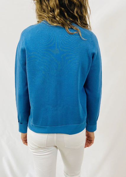 Maliparmi Zip Up Cardigan in Blue
