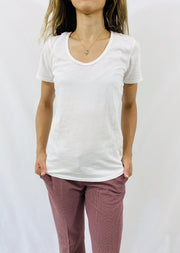 Leylie Swoop Tee in White