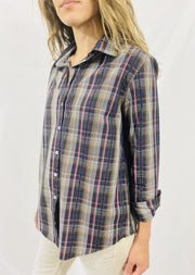 Leylie Chris Shirt in Earthy Plaid