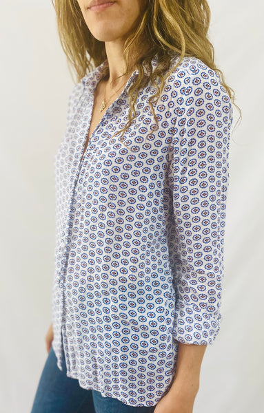 Leylie Guilda Shirt in Blue Circles