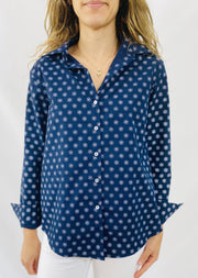 Leylie Chris Shirt in Indigo Daisy