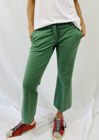 Circolo Flared Pants in Aloe