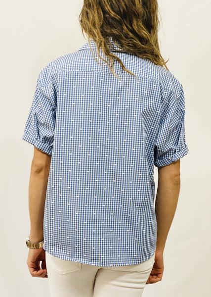 "Leylie ""Gaby"" Short Sleeve Shirt in Check"