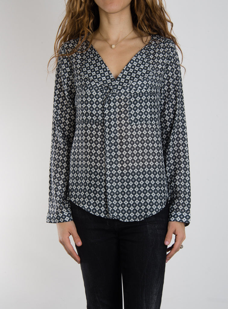 Leylie Yassi Blouse in Black/White Print