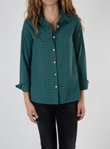 Leylie Jess Shirt in Green Plaid