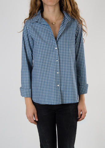 Leylie Jess Shirt in Blue Plaid