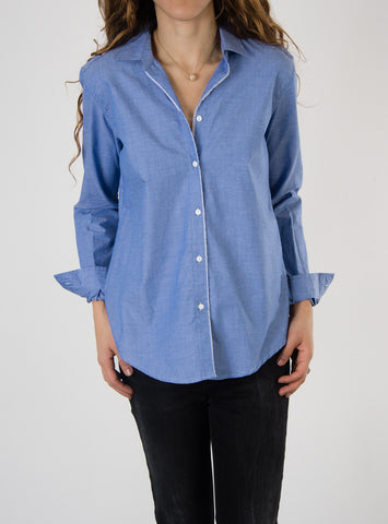 Leylie Ana Shirt in Blue Chambray