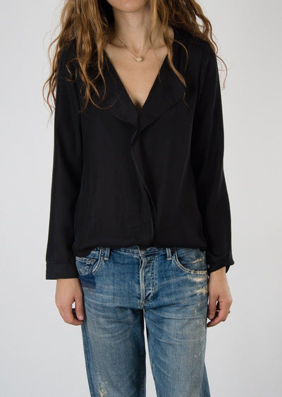 Leylie Yassi Blouse in Black Silk