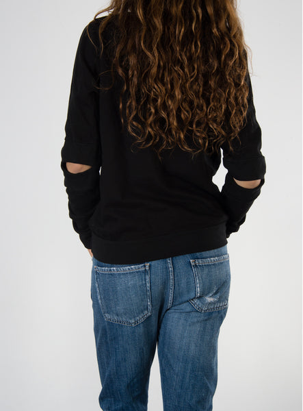 Leylie Carrie Sweatshirt in Black