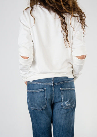 Leylie Carrie Sweatshirt in White