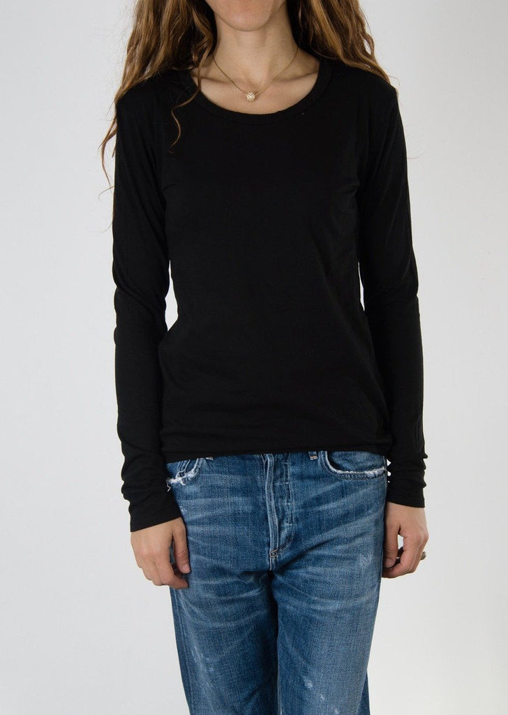 Leylie Long Sleeve Tee in Black