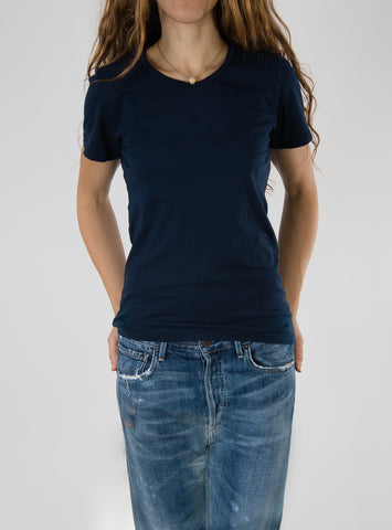 Leylie Crew Tee in Navy