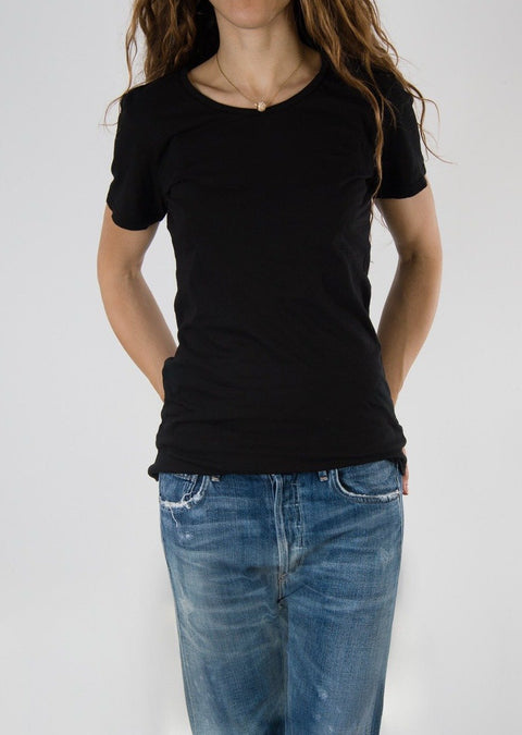 Leylie Crew Tee in Black