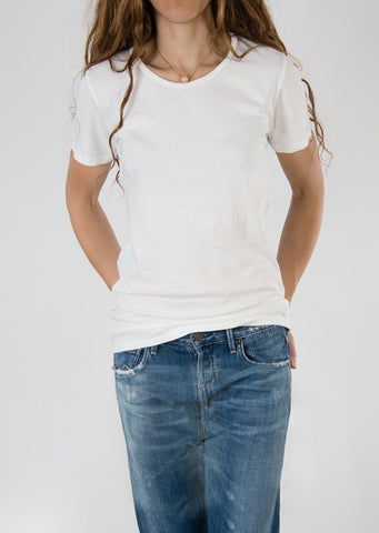 Leylie Crew Tee in White