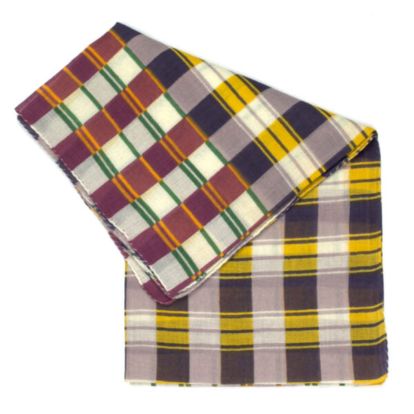 Epice Small Plaid Scarf in Mauve