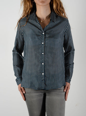Leylie Jess Shirt in Blue Dot
