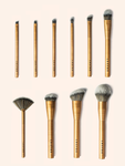 Lustre Pro Makeup Brush Set Gold Edition (Valued at $125)