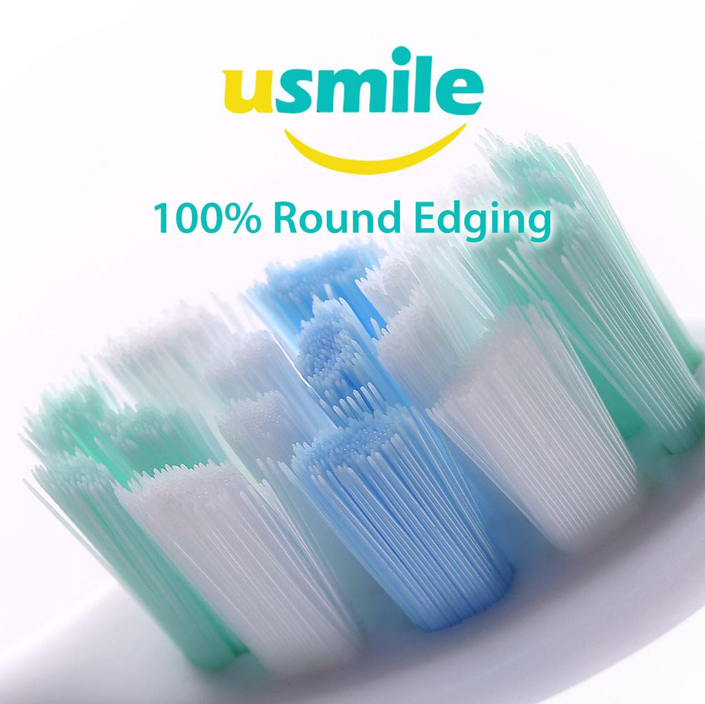 Usmile U1 Electric Sonic Toothbrush Rechargeable USB Charging 180 days of power on 3 hours charge - with 100% Round Edging Portable Bristle Oral Hygiene Travel Case (Blue)